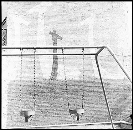 giraffes and swings - Chicago, Ill